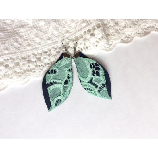 Cleopátra menta-zöld fülbevaló