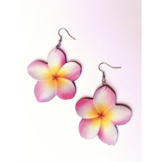 Hawaii rózsa fülbevaló