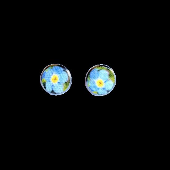 Kék nefelejcs pont fülbevaló