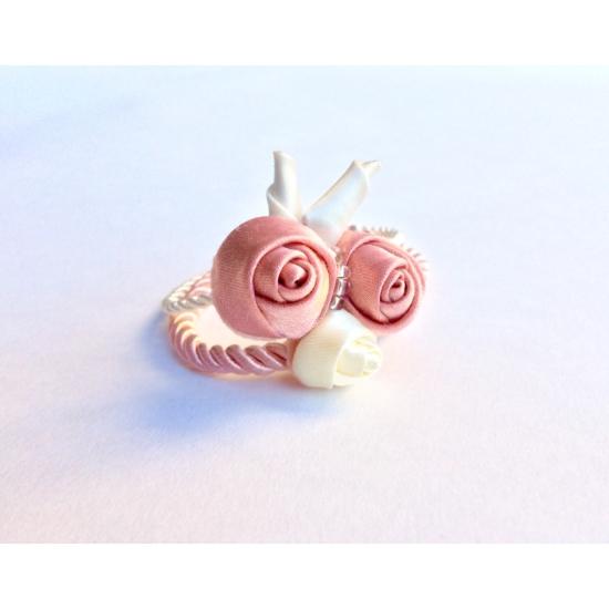 Aurora rózsaszín-krém karkötő