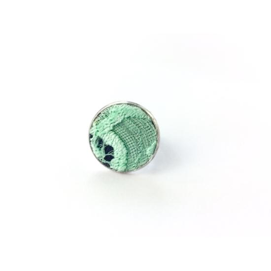 Menta-zöld csipke gyűrű