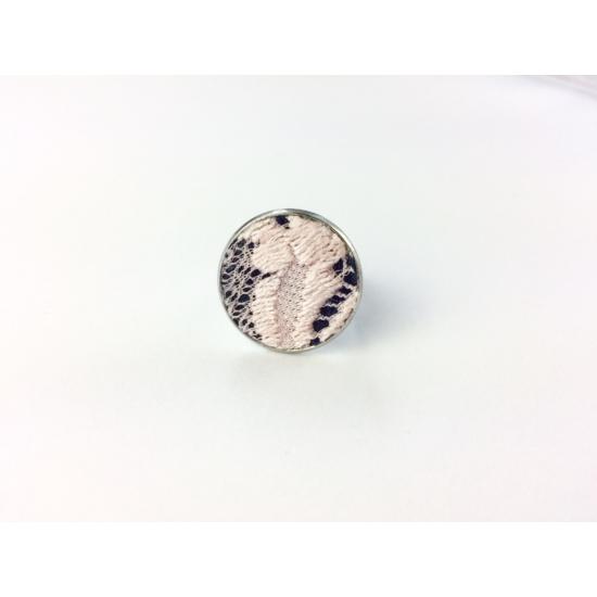 Csipke gyűrű rózsaszín