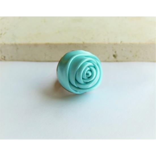 Világos türkiz rózsás gyűrű