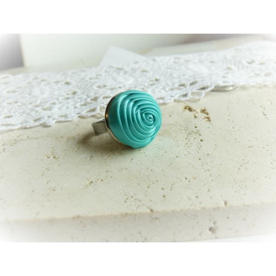 Türkiz rózsás gyűrű