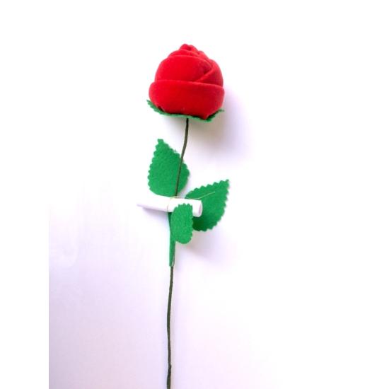 Piros bársony rózsa 1 szál