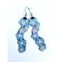 Kép 2/5 - Kék nefelejcs hosszú fülbevaló