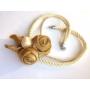 Kép 2/5 - Aurora arany-krém nyaklánc