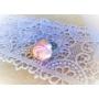 Kép 3/5 - Halvány rózsaszín rózsás gyűrű