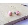 Kép 5/5 - PONT ELÉG virág fülbevaló - világos rózsaszín