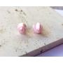 Kép 1/5 - PONT ELÉG virág fülbevaló - világos rózsaszín