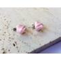 Kép 2/5 - PONT ELÉG virág fülbevaló - világos rózsaszín