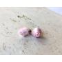 Kép 3/5 - PONT ELÉG virág fülbevaló - világos rózsaszín