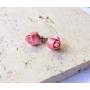 Kép 4/4 - PONT ELÉG virág fülbevaló - sötétrózsaszín