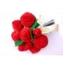 Kép 2/3 - Piros bársony rózsa csokor